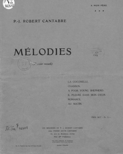 Mélodie Robert CANTABRE