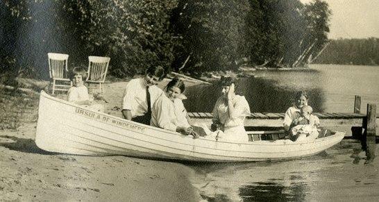 Famille Hemingway sur le lac