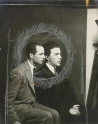 Louis Aragon et André Breton. Source : www.centrepompidou.fr