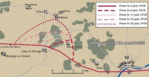 carte-evolution-du-front-bataille-du-bois-belleau