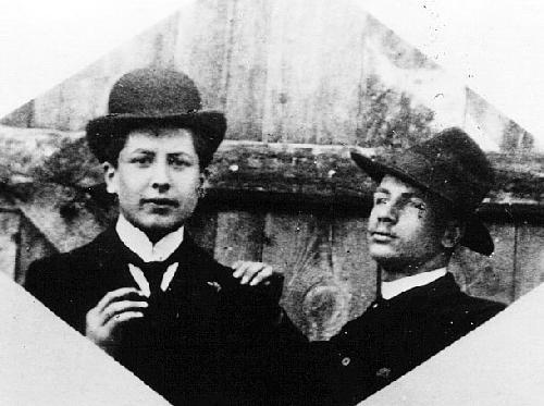 Henri Fournier et son ami Chauveau au lycée Voltaire (1903)