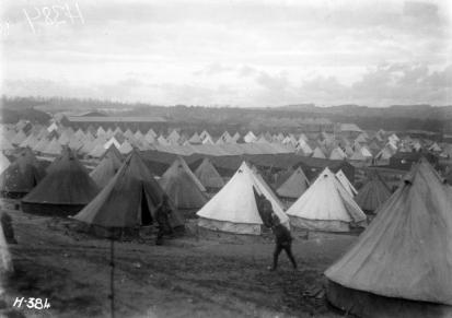 Camp britannique à Étaples. Source : http://roadstothegreatwar-ww1.blogspot.com/