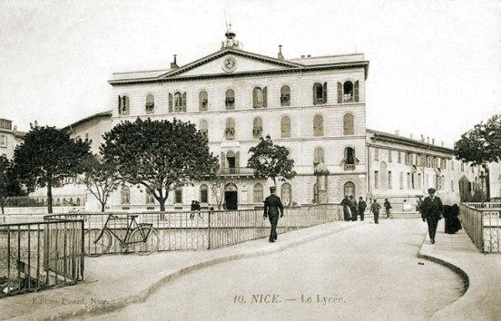 L'ancien lycée de garçon à Nice (vers 1900). Source : http://www.nicerendezvous.com/